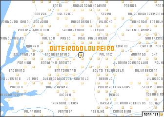 map of Outeiro do Loureiro