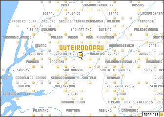 map of Outeiro do Pau