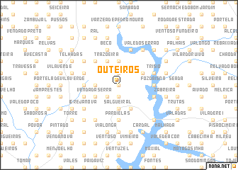 map of Outeiros