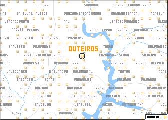 map of Outeiros