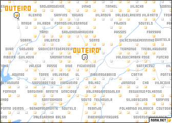 map of Outeiro