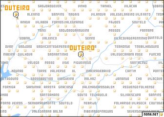 map of Outeiro
