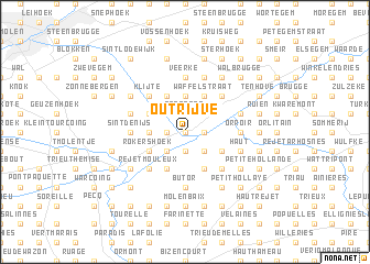map of Outrijve