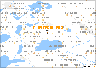 map of Ouwster-Nijega