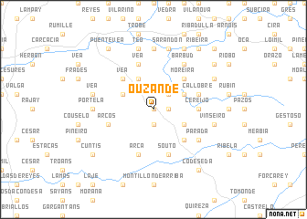 map of Ouzande
