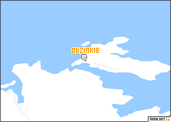 map of Ouzinkie