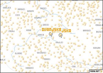 map of Ovanjska