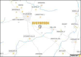 map of Overbrook