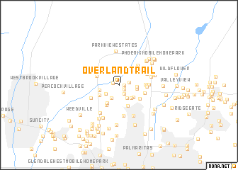 map of Overland Trail