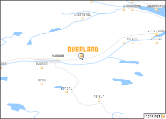 map of Øverland