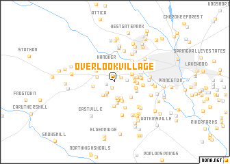 map of Overlook Village