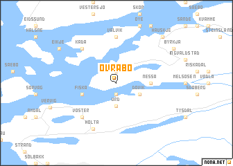 map of Øvrabø