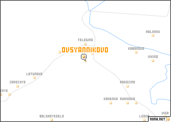 map of Ovsyannikovo