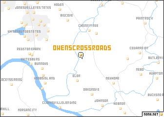 map of Owens Cross Roads