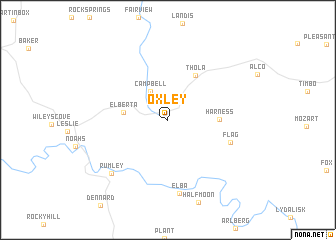 map of Oxley