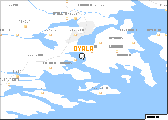 map of Oyala