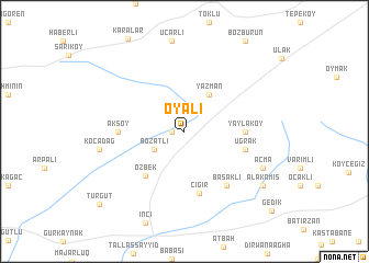 map of Oyalı