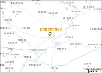 map of Ozarennyy