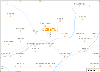 map of Özbeyli