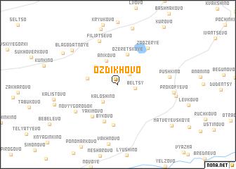 map of Ozdikhovo