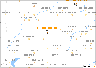 map of Ožkabaliai