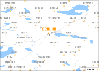 map of Ozoliņi