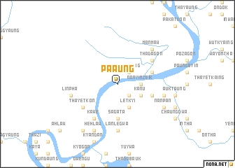 map of Pa-aung