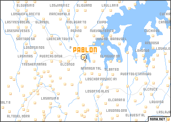 map of Pablón