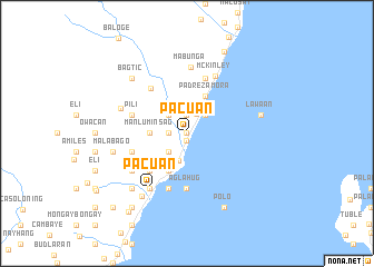 map of Pacuan