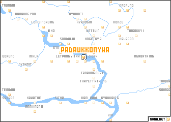 map of Padaukkonywa