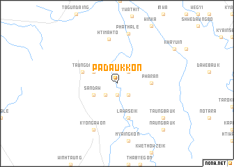 map of Padaukkon