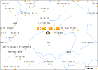 map of Padaukkyaw