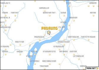 map of Padaung
