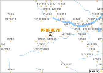 map of Padawgyin