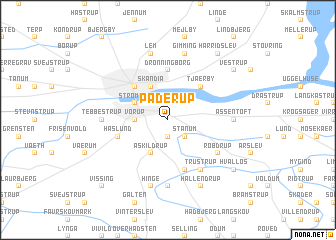 map of Paderup