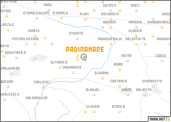 map of Padina Mare