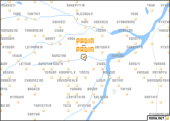 map of Padin