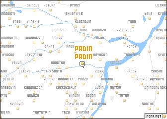 map of Padin
