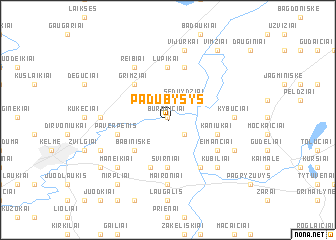 map of Padubysys