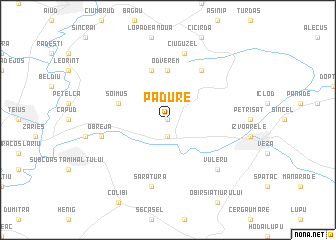 map of Pădure