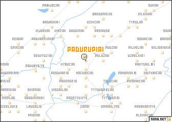 map of Padurupiai