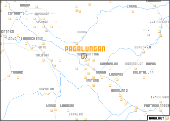 map of Pagaluñgan