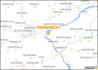 map of Pahaquarry