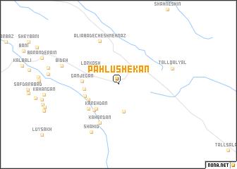 map of Pahlūshekan