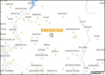 map of Pahn Ḩeşār