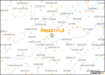 map of Pahuatitla