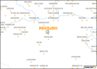 map of Paikojai II