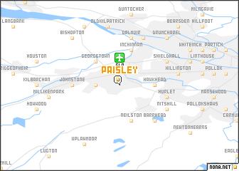 Paisley United Kingdom map  nonanet