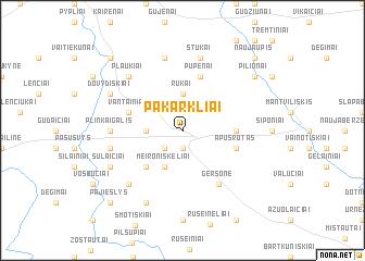map of Pakarkliai