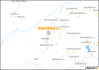 map of Pakhrai Kili